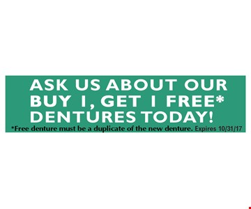 buy one get one free dentures
