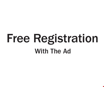Free Registration With The Ad.