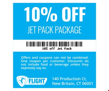 10% off Jet Pack Package