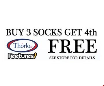 Buy 3 Socks Get 4th FREE