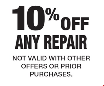 10% Off Any Repair. Not valid with other offers or prior purchases.