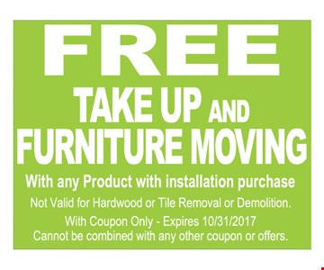 Free Take Up And Furniture Moving