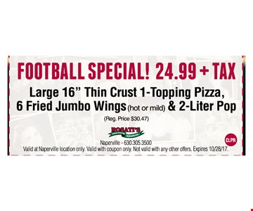 Football Special ! $24.99+tax - Large 16