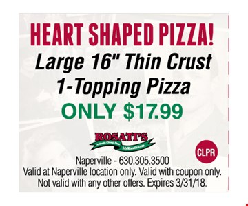 heart shaped pizza $17.99