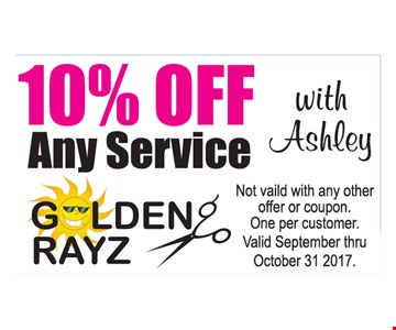 10% Off Any Service With Ashley