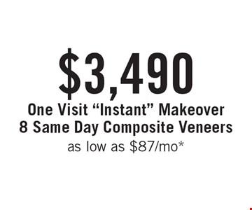 $3,490 One Visit