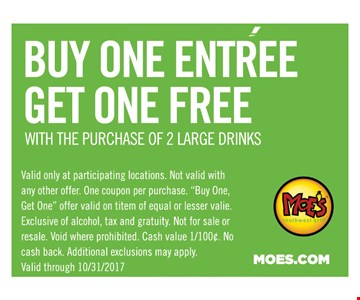Buy One Entree Get One Free