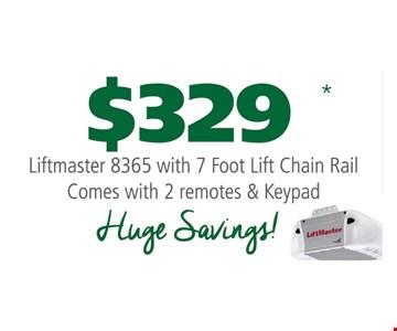 $329 Liftmaster 8365