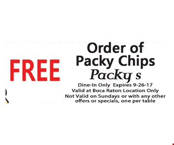 Free Order of Packy Chips