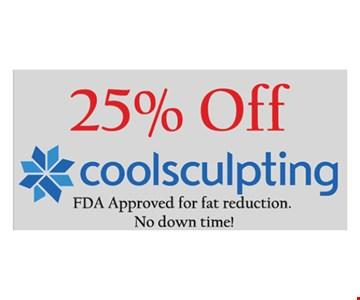 25% Off Coolsculpting