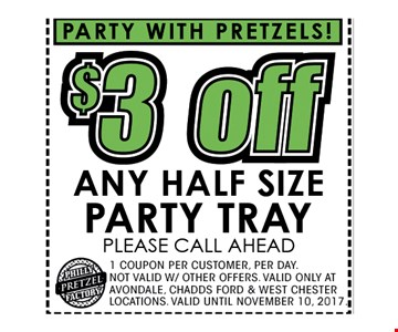 $3 off any half size party tray
