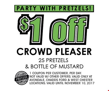 $1 off crowd pleaser