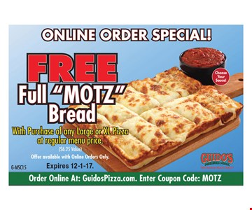 Online Order Special! Free Full