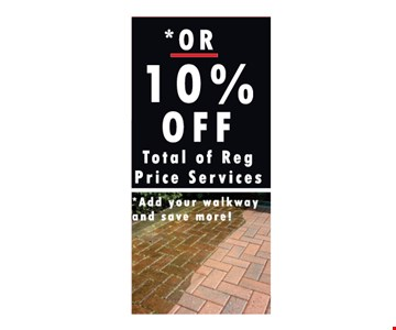 10% Off Totals Of Reg Price Services