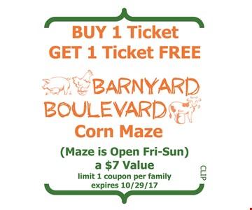 Buy 1 ticket get 1 ticket free
