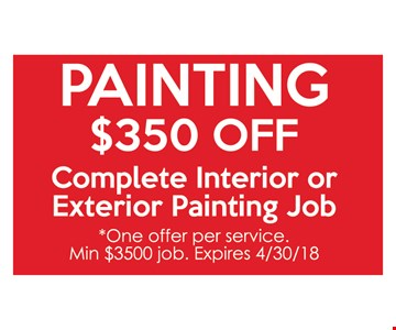 Painting. $350 off
