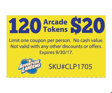 120 arcade tokens for $20