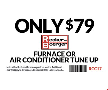 Only $79 Furnace Or Air Conditioner Tune Up