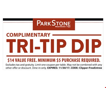 Try-Tip Dip $5 minimum purchase, $14 value Free