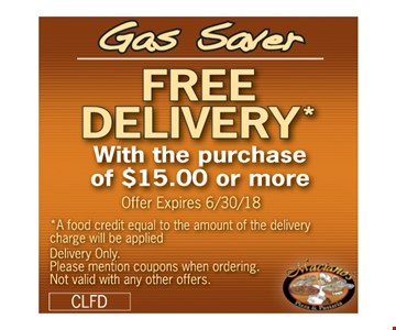Free delivery.