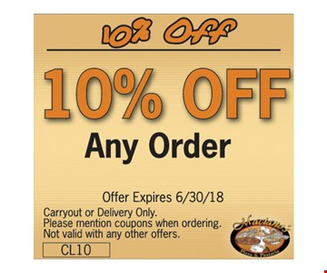 10% off your order.