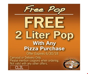 Free 2 liter with purchase.
