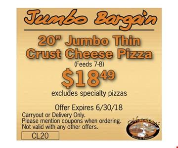 Jumbo bargain for $18.49.