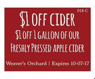 $1 off cider