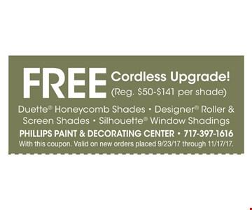 FREE Cordless upgrade !