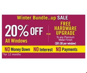 20% Off All Windows Plus Free Hardware Upgrade