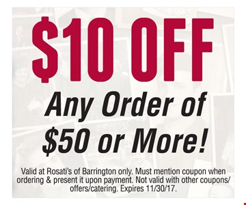 $10 Off Any Order Of $50 Or More!