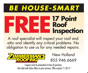 Free 17 Point Roof Inspection