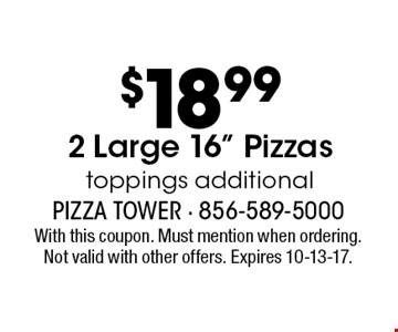 $18.99 2 Large 16