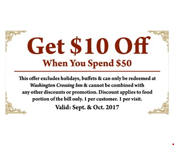 Get $10 off when you spend $50