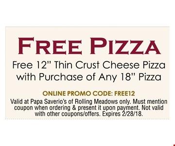 Free Pizza -Free 12