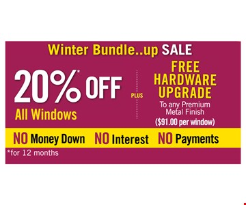 20% off all windows