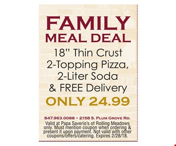 Family Meal Deal Only $24.99