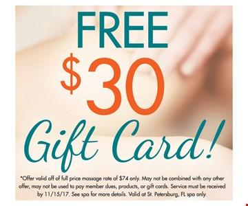 Free $30 Gift Card