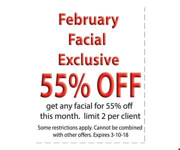 55% Off Facial