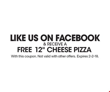 Like us on Facebook & receive a free12