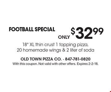 Only $32.99. FOOTBALL SPECIAL. 18