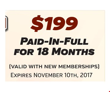 $199 for 18 months