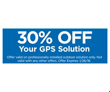 30% off your GPS solution.