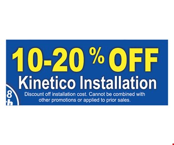 10-20% off kinetic installation