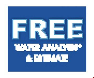 Free water analysis & estimate