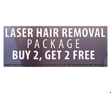 Buy 2, Get 2 Free Laser Hair removal