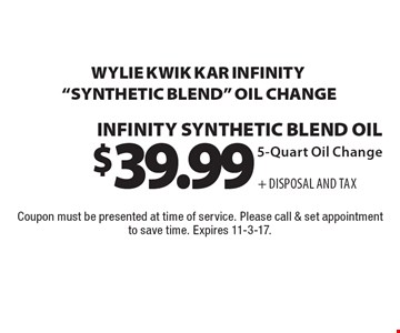 $39.99 + Disposal And Tax Wylie Kwik Kar Infinity