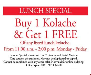 Buy 1 Kolache and get 1 free