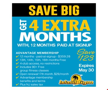 get 4 extra months with 12 months sign up