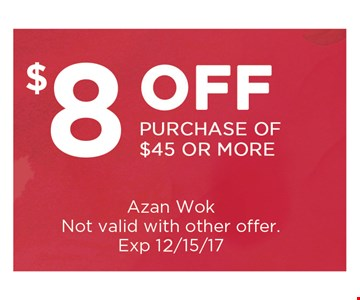 $8 off purchase of $45 or more